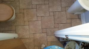 Bathroom tiled floor