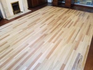 Carpentry floorboards