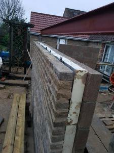 Double wall and insulation