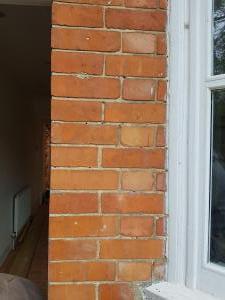 Exposed bricks exterior
