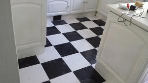 Floor Black and White Tiles
