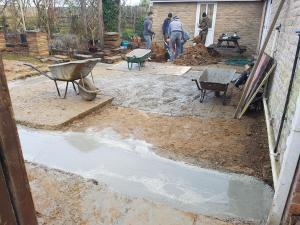 Ground work house extension foundations
