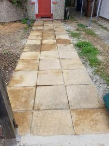 Ground work patio flattening