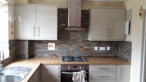Kitchen  splashback natural stones