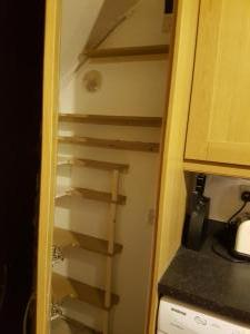 Kitchen cabinet built in shelves inside