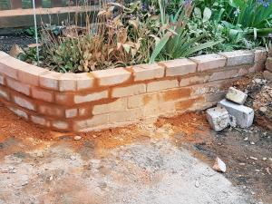 Patio brick wall